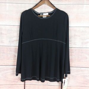Tomorrow's Mother Black Long Sleeve Maternity Top